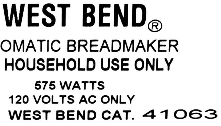 Knead Bar Fits West Bend Model 41063 Breadmaker Dough