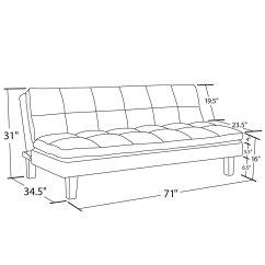 Dhp Allegra Pillow Top Futon Sofa Bed Sophia Range