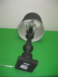 Vintage Black Portable Table Lamp Electric with Shade ...