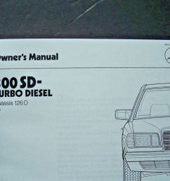 1985 mercedes 300sd owners manual w126 new and 31 similar items 57 [ 1599 x 1065 Pixel ]