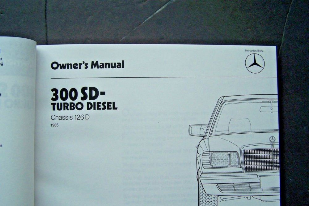 medium resolution of 1985 mercedes 300sd owners manual w126 new and 31 similar items 57