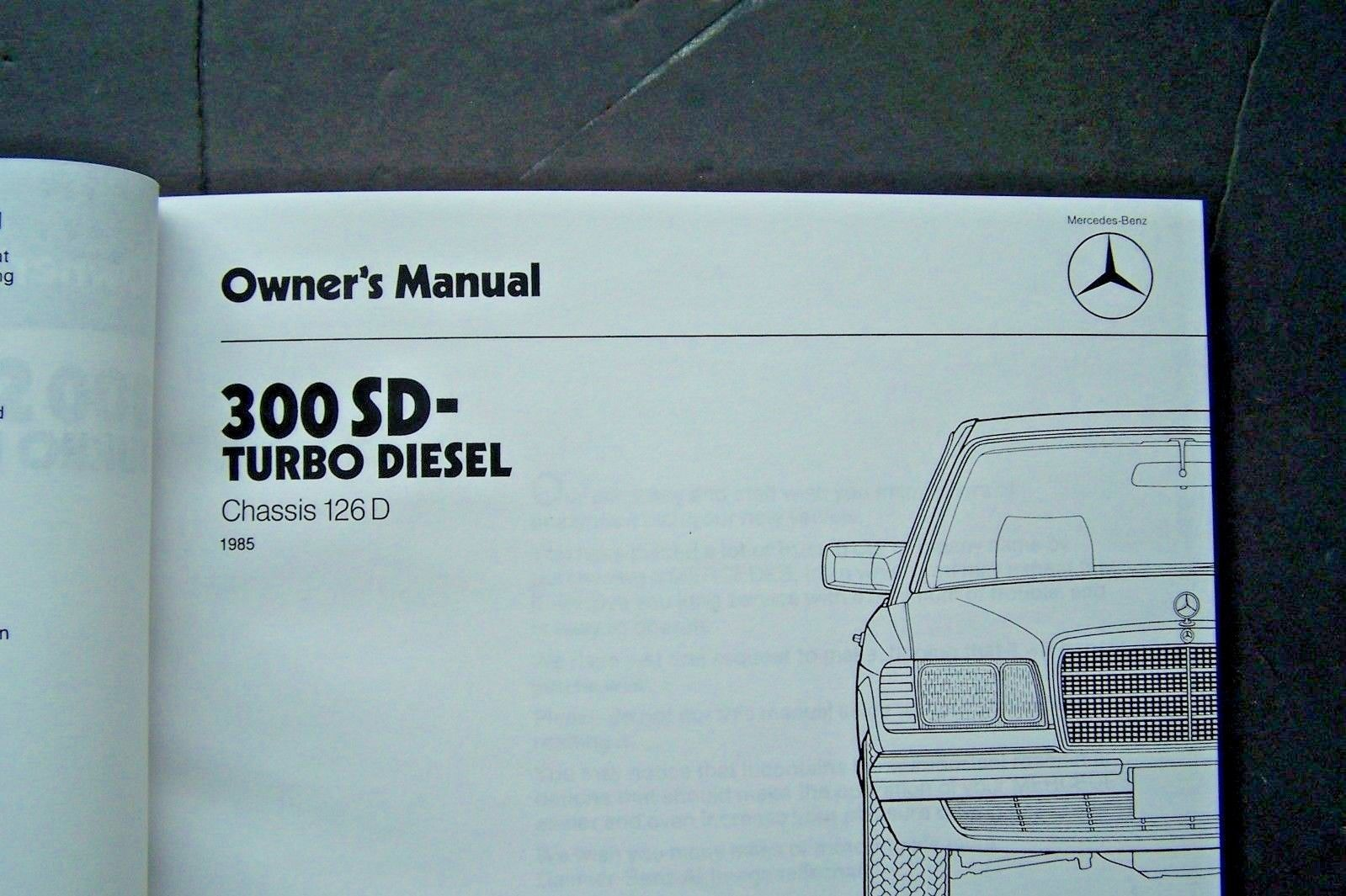 hight resolution of 1985 mercedes 300sd owners manual w126 new and 31 similar items 57