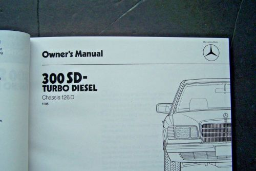 small resolution of 1985 mercedes 300sd owners manual w126 new and 31 similar items 57