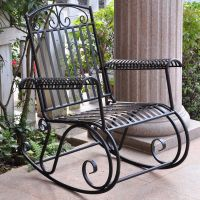 Metal Iron Outdoor Rocking Chair Retro and 50 similar items