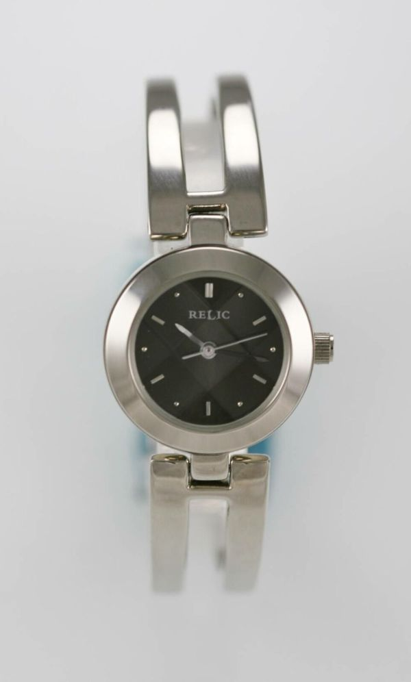 Relic Watch Womens Silver Stainless Steel Battery Water