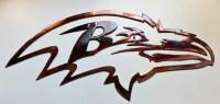 """Raven Metal Wall Art 18"""" Wide - Wall Sculptures"""