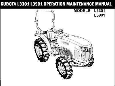 KUBOTA L3301 L3901 TRACTOR OPERATION MANUAL for