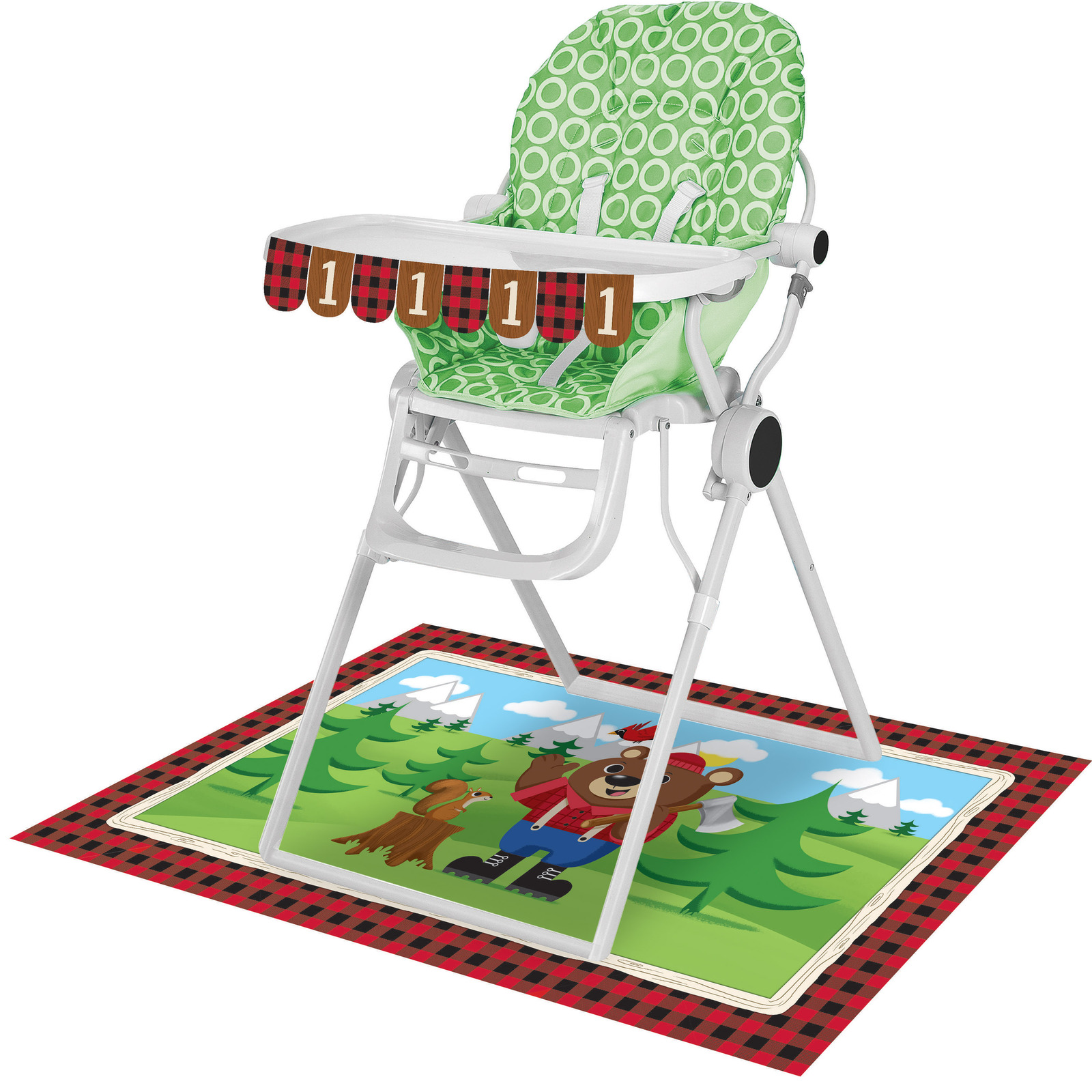 High Chair Floor Mat Lum Bear Jack High Chair Kit Banner 3 1 2 Quot X 26