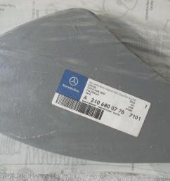 new oem mercedes w210 e class dash fuse box cover gray 2106800778 28 01 [ 1280 x 960 Pixel ]