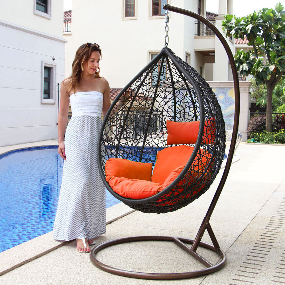 Swinging Chair Outdoor Patio Heavy Duty Hammock Chair Swing Wicker And 25 Similar Items