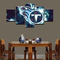 Framed 5 Pcs Tennessee Titans Football Canvas Print ...