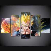 5 Panels Goku Anime Print Poster Dragon Ball Painting ...