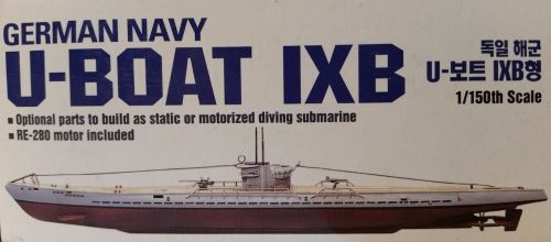 small resolution of academy 1 150 scale german u boat ix b motorized auto dive