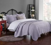 Brandream Romantic Cream White Purple Green Coverlet Quilt
