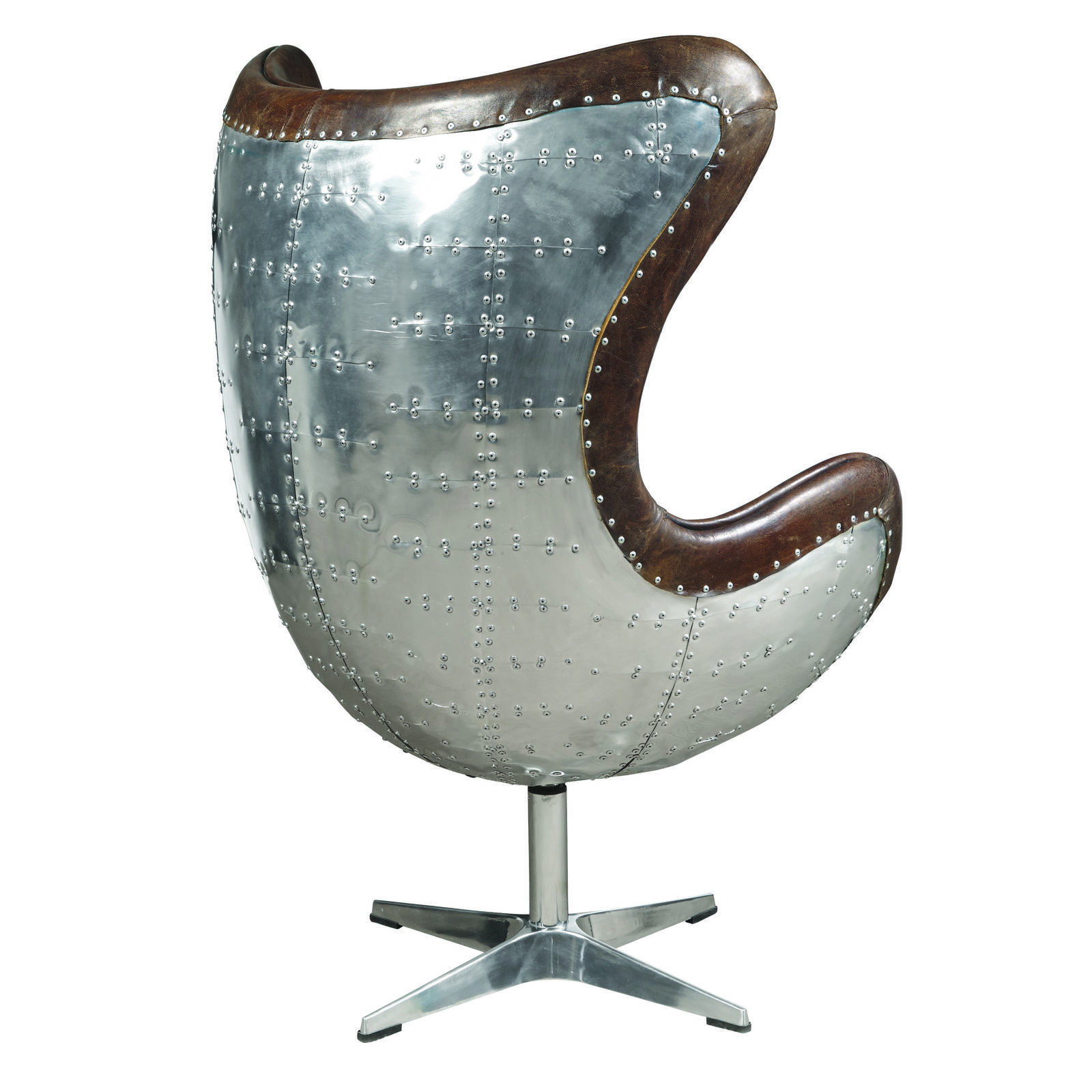 Brown Leather Egg Chair Fabulous Modern Cuba Brown Leather Swivel Egg Chair 32 39 39 X