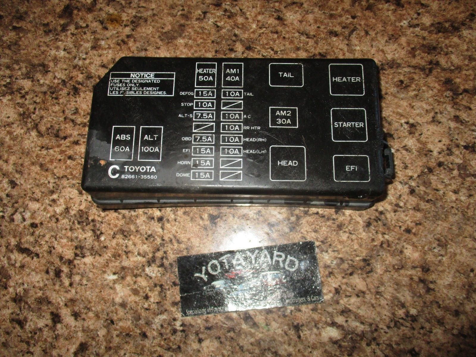 hight resolution of  toyota 4runner fuse box relay junction and similar items s l1600