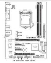 Original Gigabyte GA-B75M-D3V LGA 1155 Motherboard DDR3
