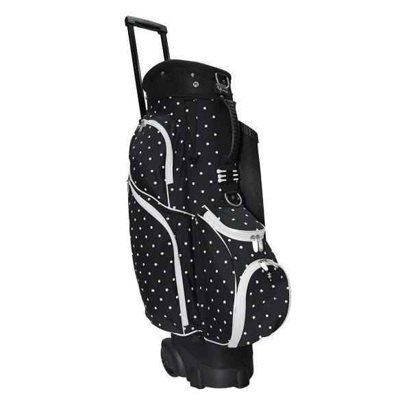 Rj Sports Spinner Golf Cart Bag Polk Dot