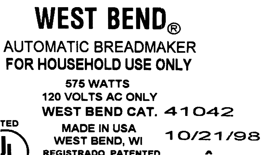Kneading Paddle Fits West Bend Model 41042 America's Best