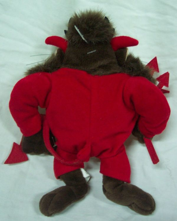 "Wb Looney Tunes Taz Tasmanian Devil In Costume 8"" Bean Bag"