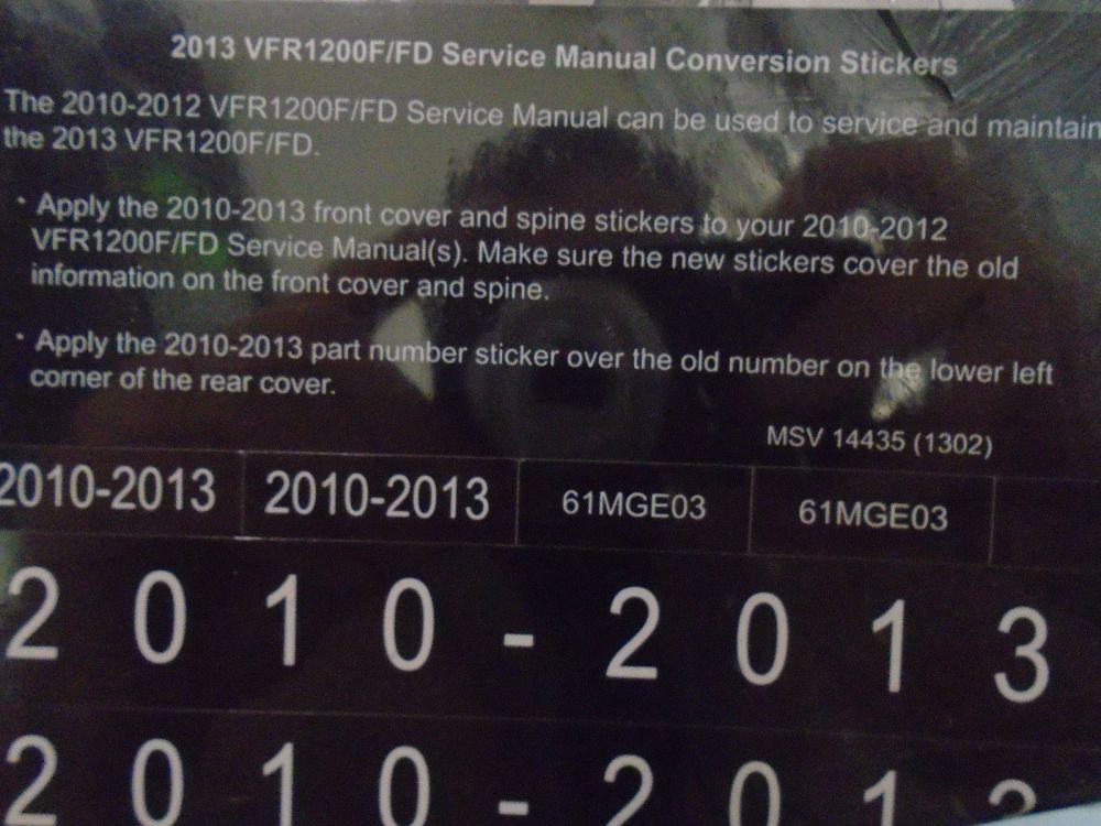 medium resolution of 2011 honda vfr1200f fd vfr 1200 f service repair shop manual factory x new oem