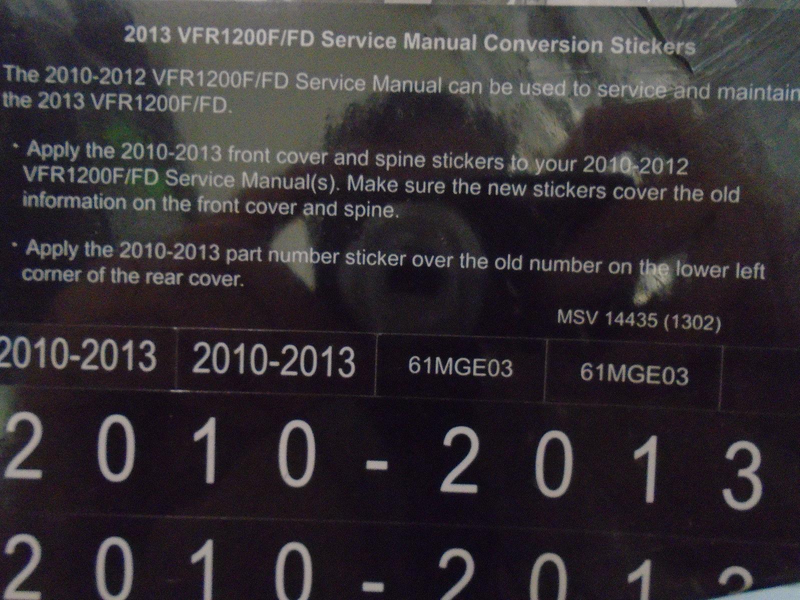hight resolution of 2011 honda vfr1200f fd vfr 1200 f service repair shop manual factory x new oem
