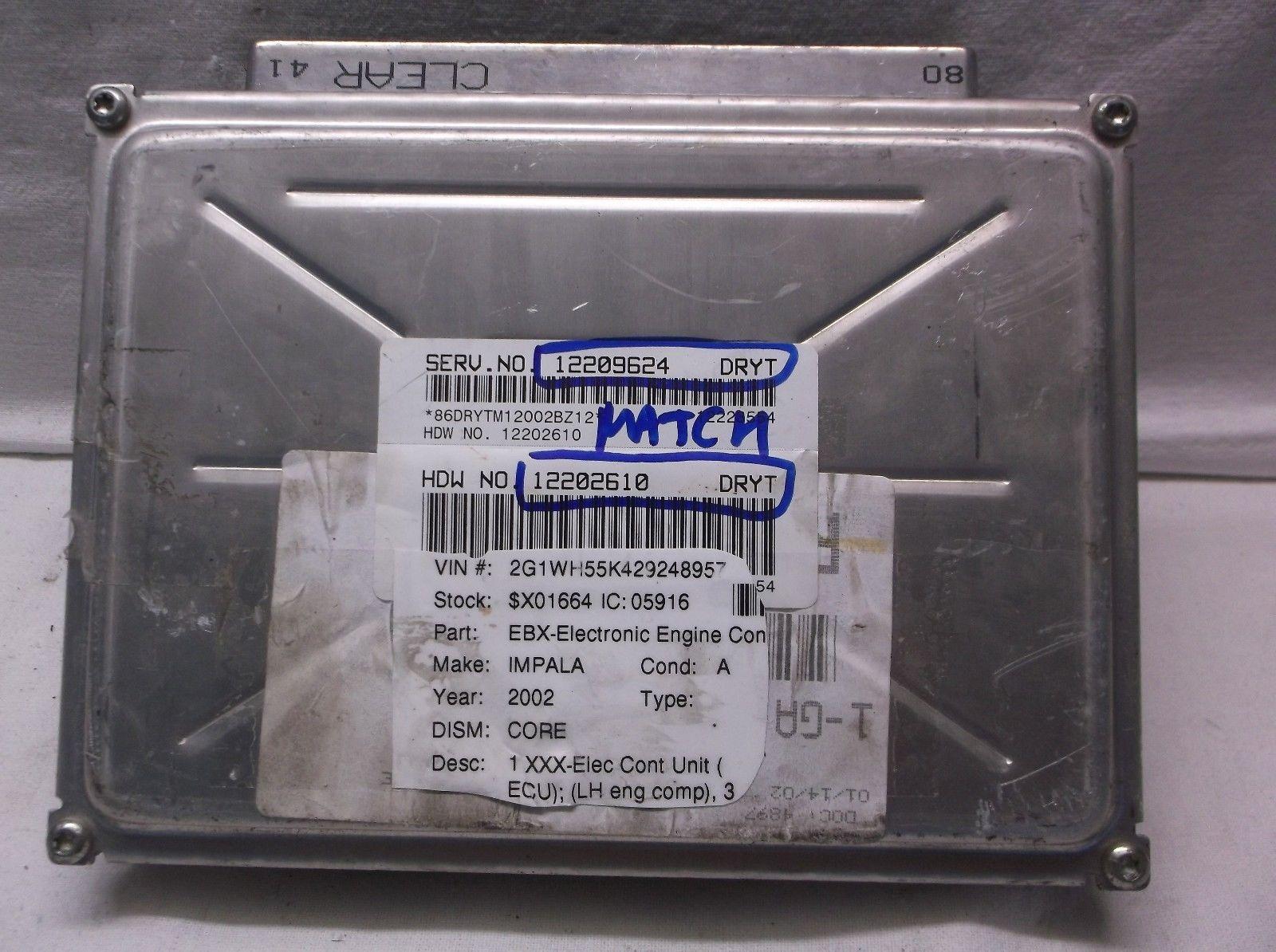 02 Chevrolet Impala Monte Carlo Engine Control Moduleecuecm