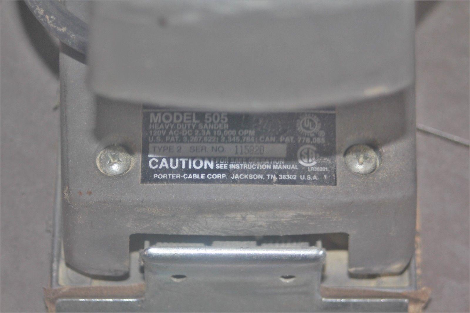 Porter Cable 340 Sander Manual