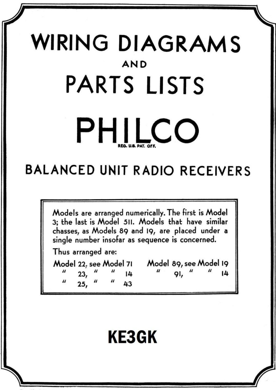 medium resolution of philco wiring diagrams and parts list 1928 1938 pdf cdrom