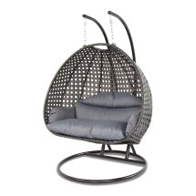 2 Person Outdoor Patio Rattan Hanging Wicker Swing Chair