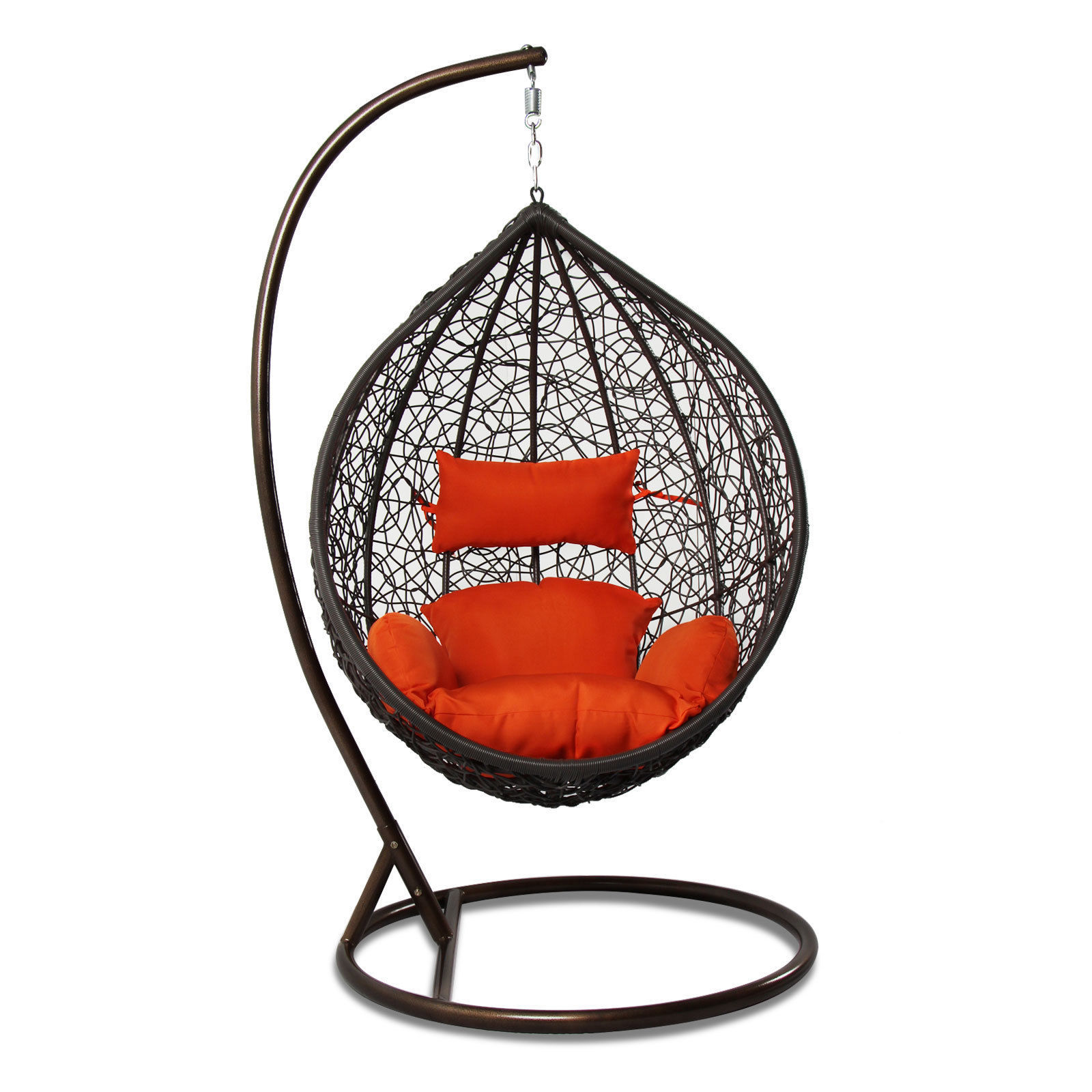 Outdoor Wicker Hanging Egg Chair Rattan Outdoor Wicker Hanging Chair Egg Shape Stand Porch