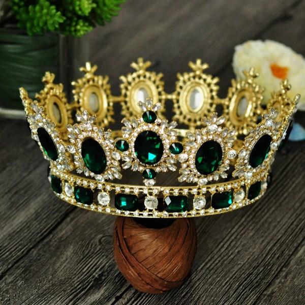 Bling Bridal Royal Queen King Crown Rhinestone Tiara