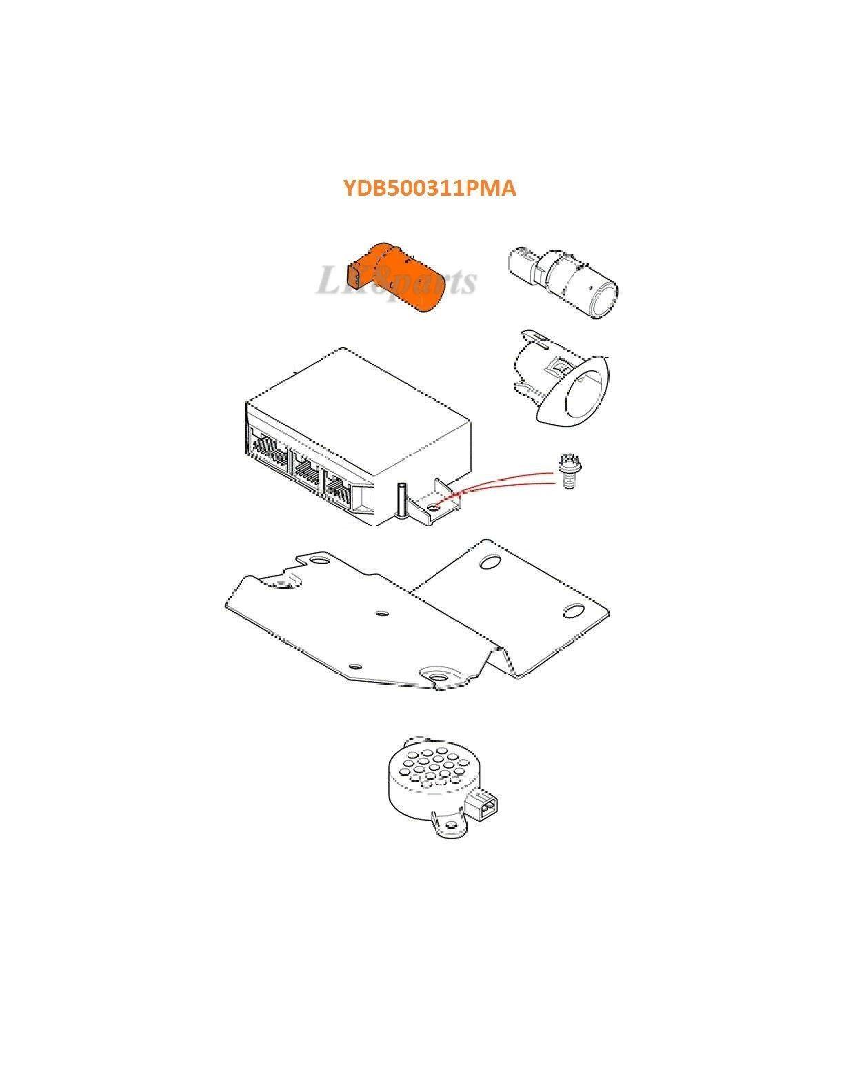 Land rover lr3 freelander parking aid distance system sensor ydb500311pma new