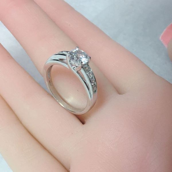 Real 925 Sterling Silver Solitaire 1.50 Ct Cubic Zirconia Engagement Ring - Cz Moissanite