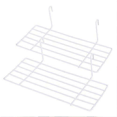AceList 2 Set White Straight Shelf Rack for Gridwall Grid