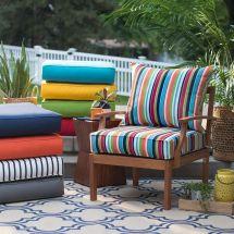"25"" Premium Sunbrella Fabric Outdoor Deep Seat Cushion Set"