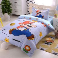 Super Mario Brothers Duvet Cover Bed Line Pillowcase Kids ...