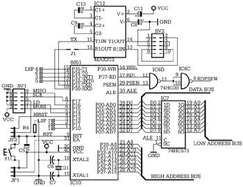 Schematic 8051 Development Board