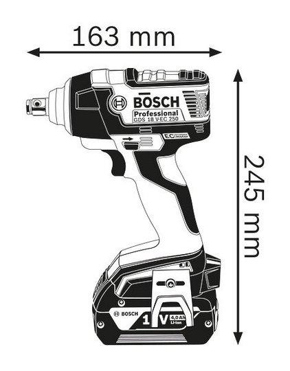 GDS 18 V-EC 250 Profesional , Atornillador de impacto a