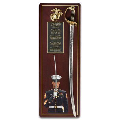 Wall Decor USMC Sword Of Honor Wall Decor