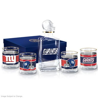 New York Giants NFL Glass Decanter Set