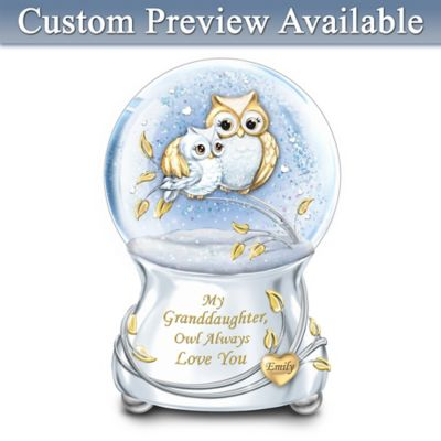 My Granddaughter Owl Always Love You Personalized Glitter