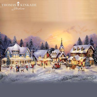 Thomas Kinkades Collectible Village Christmas Collection