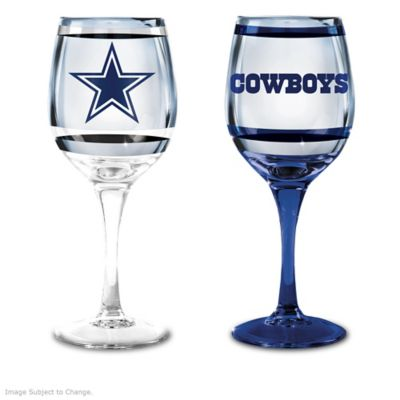 NFL Dallas Cowboys Wine Glass Collection Set Of Two Stem