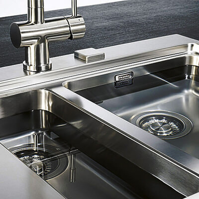 franke kitchen sinks standing cabinets for taps stainless steel ceramic composite