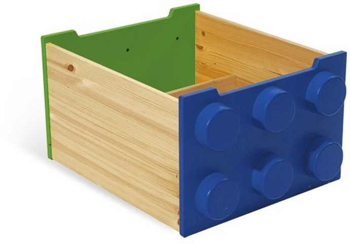 60031 2 Rolling Storage Box Blue Green Brickset Lego