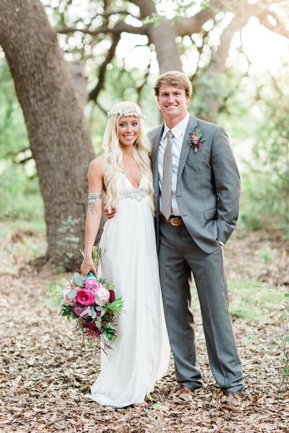 Boho Chic Austin Wedding Featuring Davy Gray Blaze Jaxon