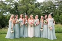 Grey Blue Bridesmaid Dresses