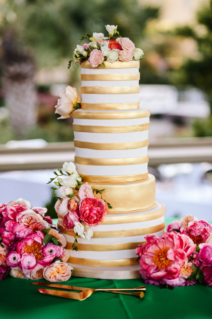 Christine Cordier and Michael Burtons Tropical Kate Spade Inspired Austin Wedding at Horseshoe