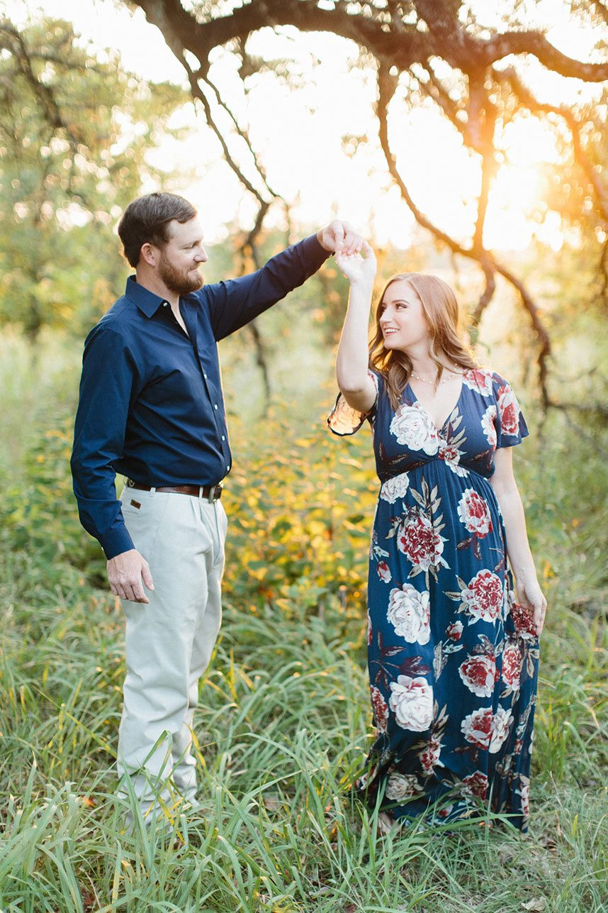 Casual Outdoor Engagement Session with Virginia Ann